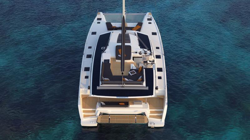 Premières images 3D nouveau catamaran Fountaine Pajot New 51